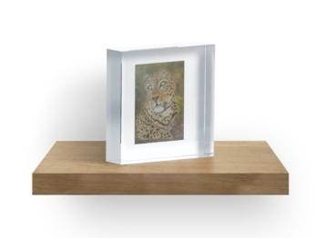 Leopard Acrylic Block